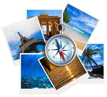 vacances, destination,étranger, avion, train, bus.